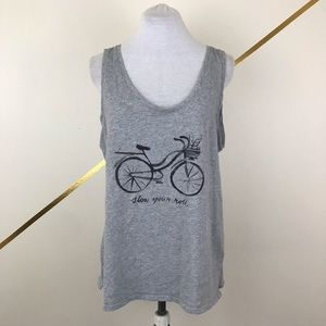 Old Navy Gray Bicycle Tank Top